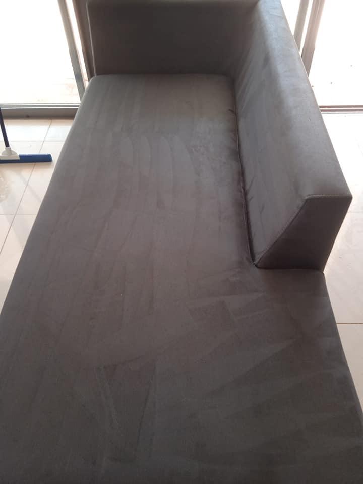 ניקוי ספה מבד אחרי