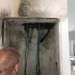 שריפה בבית - לפני ניקיון